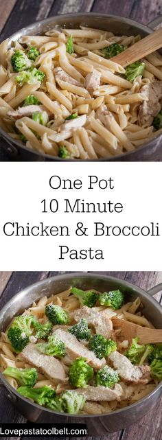 Make dinner easy with this One Pot 10 Minute Chicken & Broccoli Pasta