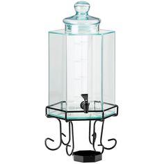 10W x 10D x 22H Iron Acrylic Beverage Dispenser 2 Gallon
