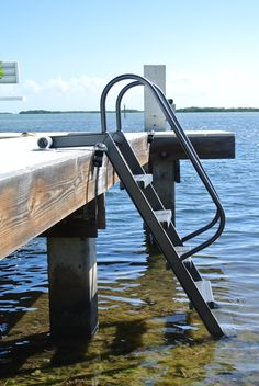 WetSteps® Bolt-Together Ladder — K & R Manufacturing House Ladder, Pool Ladder, Floating Boat Docks, Boat Shed, Pool Steps, Lake Dock, Lakefront Property, Lake Cabins, River House