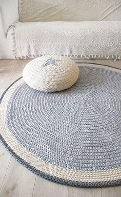 Round Rug floor crochet 100cm