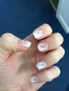 Snowboarding nails nailart