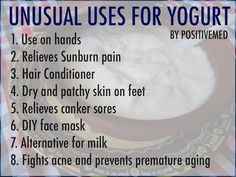 Unusual Uses for Yogurt-