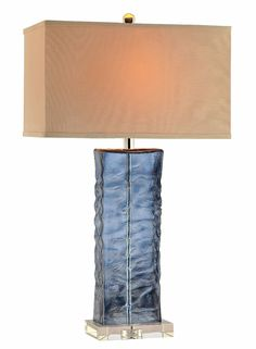 Arendell Glass Table Lamp in Blue | Stein World Furniture | Home Gallery Stores