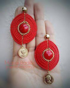 Wire Jewelry, Jewelry Crafts, Beaded Jewelry, Diy Jewellery Designs, Jewelry Design, Pattern Art, Pattern Design, Women's Earrings, Crochet Earrings