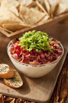 Bring this BLT dip to your New Years Eve party and watch it disappear! Great recipe for a potluck or party. #robertrothschildfarm