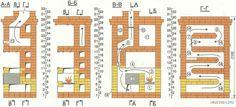 Отопительно-варочная печь конструкции Г. Резника Stove Fireplace, Rocket Stoves, Barbecue, New Homes, Floor Plans, Kitchen Appliances, Layout, House, Stoves