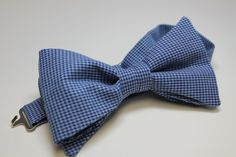 handmade cotton bow tie - houndstooth - finest soft cotton twill