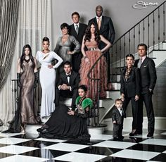 Formal family portrait love this-extreme posed family
