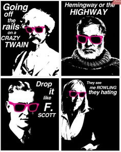 ✓ Going off the rails on a crazy Twain. Hemingway or the highway. Drop it like F Scott. They see me Rowling, they hating. Education English, Teaching English, Drama Education, Education Humor, Classroom Inspiration, Classroom Ideas, Seasonal Classrooms, Classroom Walls, Classroom Memes