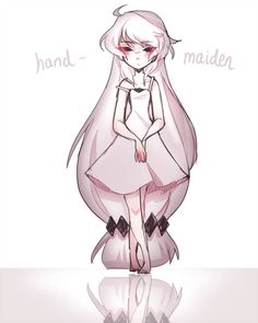 Hand maiden crme by crydiaa Cartoon Drawings, Cute Drawings, Drawing Sketches, Character Design Animation, Character Art, Anime Chibi, Anime Art, Cute Art Styles, Neko