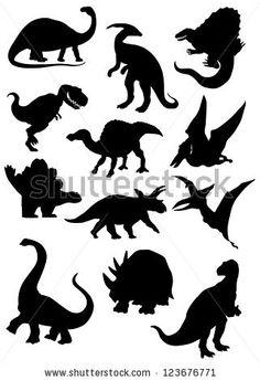 Slightly stylized dinosaur silhouettes -Shutterstock