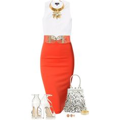 """Bright Skirt"" by sherry7411 on Polyvore"