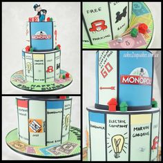 Tristan would love this Monopoly-Themed Tiered Cake