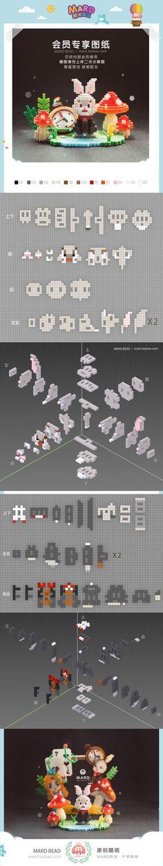 Hamma Beads 3d, Hamma Beads Ideas, Pearler Beads, Fuse Beads, Perler Bead Templates, Diy Perler Beads, Perler Patterns, Pixel Beads, Kawaii Diy
