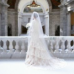 custom wedding dress with length sleeves. modest wedding dress with tiers. Temple Wedding Dresses, Modest Wedding Dresses With Sleeves, Custom Wedding Dress, Bridal Wedding Dresses, Latter Day Bride, Lds Bride, Bridal Photography, Jessie, Veil