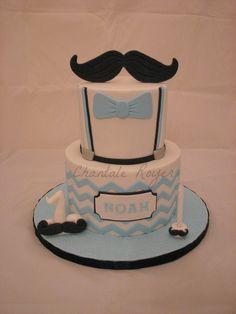 Cake mister mustache gâteau monsieur moustache petit homme gars garçon boy chevron little man