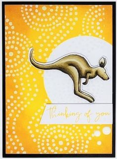 Stunning Kangaroo Stamped Card with Uniquely Creative June Stamp Release Color Kit, Colour, Aussie Christmas, Handmade Tags, Animal Cards, Free Motion Quilting, Quilting Patterns, Cute Cards, Creative Cards