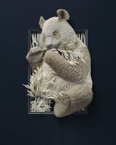 Paper Works of Calvin Nicholls, Paper Sculpture Artist Art Sculpture, Animal Sculptures, Paper Sculptures, Diy Quilling, Nature Paper, Paper Animals, Paper Artwork, Paper Artist, Canadian Artists
