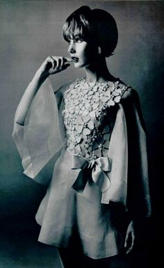 1969 House of Dior. 1960s fashion images.