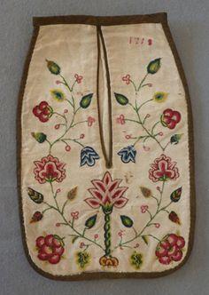 Pocket dated 1718