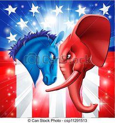 Vector Clip Art of American Politics Concept - American politics ...