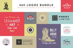 465 Logos Bundle - 90% off by vuuuds on Creative Market