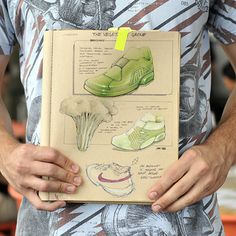 shoe sketches inspired by vegetables by Joey