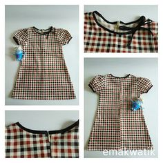 menjahit dress anak A-line Dress Anak, Baby Dress Design, Gingham Dress, Kids And Parenting, Designer Dresses, Summer Dresses, Sewing, Womens Fashion, Toddlers