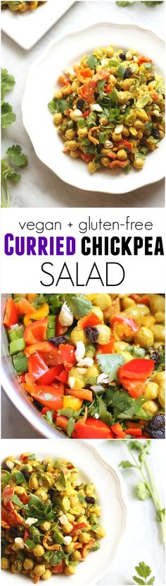 This Curried Chickpea Salad will be your new go-to healthy lunch! Vegan, gluten-free, kid-friendly. Hummusapien.com