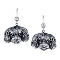 MALTIPOO EARRINGS #ER-83  | These earrings are available in all breeds! | Retail Price: $99.95 | 925 Sterling Silver | Each earring has a small bezel set CZ on top of the dog bead. Please note that these earrings can be special ordered in 10k, 14k or 18k gold. Hand-crafted in the USA, Available at ANDREW GALLAGHER JEWELERS, Newark, DE 302-368-3380. We Ship!