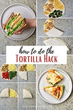 Viral Tortilla Hack (12 Filling Ideas and low-carb options!) Chicke Recipes, Low Carb Chicken Recipes, Mexican Food Recipes, Healthy Mug Recipes, Vegan Recipes, Tortillas, Burritos, Quesadillas, Vegan Tortilla