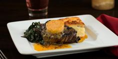 Zocalo KC -  Looking for something heartier? Indulge with our Coffee-Crusted Filet, served with poblano-potato gratin!