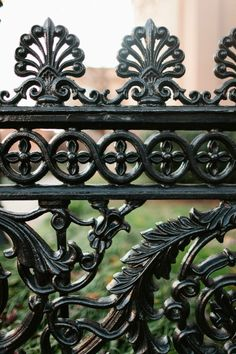 iron fence outside reception hall