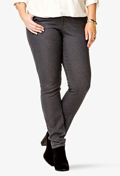 Fab Skinny Jeans (Regular) | FOREVER21 PLUS - 2024793942