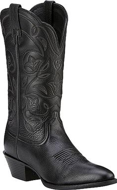 This Western style makes any outfit boot-scootin  ready!. Full grain lather  upper with intricate stitched designs. Dual side pull-on tabs. Approx. 811c0c41b92