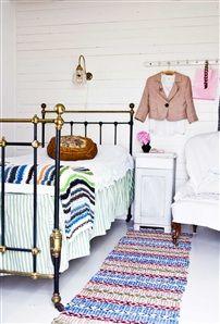 vintage bedroom - scandinavian - styling like the black and gold bed frame