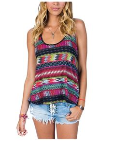 Billabong For Sure Tank - Same pattern as the other dress. But loose flowy tops are perfect for summer!