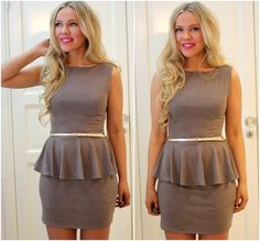 Love this DIY dress, even if peplum looks horrible on me:)