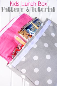 Kid's Lunch Box Pattern & Tutorial by Crazy Little Projects