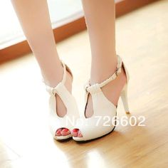 2014 spring and summer ultra high heels sandals thin strap sexy nude color heels women's shoes open toe single shoes female US $35.00