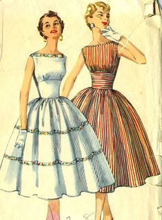 Vintage anni ' 50 semplicità 1614Junior Miss di RomasMaison