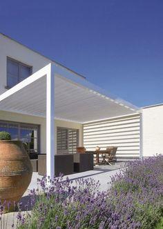 Moderne Pergola Motorisiert Verstellbar Terrasse Freistehend ALGARVE® RENSON