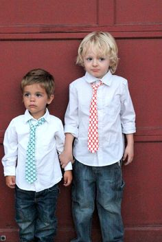 """boys tie tutorial by kojodesigns"" There ARE little boy crafts out there! So I have pinned TONS of little girls crafts, and have always imagined having a daughter... however, of my four sister in laws (My hubs has four older brothers) three have already had girls. Mother in law says I'll be the one to have the boys. Better be prepared just in case lol."