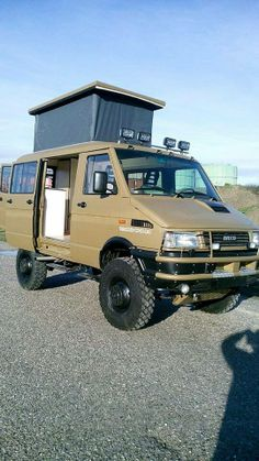 Iveco camper - older model, but look's cool when rebuilt