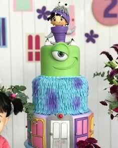 Monster Inc Party, Monster Inc Cakes, Monster Birthday Parties, 2nd Birthday Parties, Birthday Party Decorations, Girl Birthday, Party Themes, Monsters Inc Cookies, Monsters Inc Girl