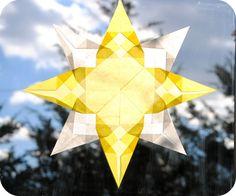 Estrellas de colores para la ventana - Montessori Para Todos