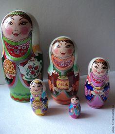 """Купить Матрешка""""Башкирочка""""2 - зеленый, сувениры и подарки, сувенир, сувениры ручной работы, матрешка купить"""