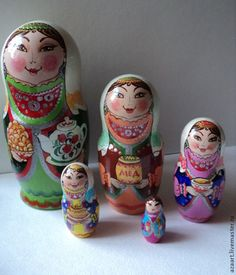 "Buy Matryoshka""Baserock""2 - green, souvenirs and gifts, souvenir, handmade souvenirs"