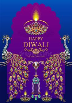 Illustration about Happy Diwali festival card with gold diya patterned and crystals on paper color Background. Illustration of card, creative, festival - 120242967 Diwali Greetings, Diwali Wishes, Happy Diwali Pictures, Diwali Poster, Diwali Pooja, Diwali Festival Of Lights, Good Morning Beautiful Flowers, Festival Image, Diwali Celebration