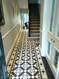 Hall Tiles Ideas Entry Hallway Floor Entry Flooring Ideas Flooring Ideas Lovable Hall Tiles Ideas The Best Tiled Hallway Ideas On Interior Entry Flooring Home Entry Door Small Entrance Hall Tiles Idea Victorian Hallway Tiles, Edwardian Hallway, Edwardian Haus, Tiled Hallway, Hallway Ideas Entrance Narrow, Entry Hallway, House Entrance, Entrance Hall, Modern Hallway